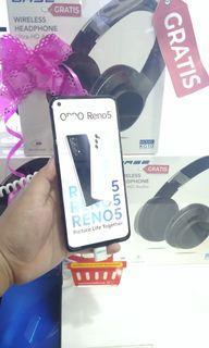Oppo Reno 5 free wireless headphone cicilan tanpa kartu kredit syarat 2 dokumen saja proses cepat