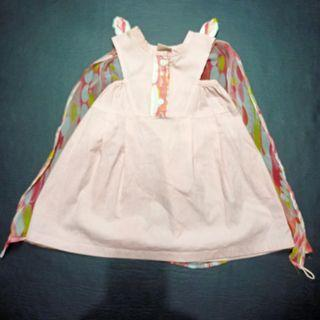 Pink Fairy Dress with Wing - SAURE size 2 - Australia