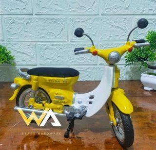 Promo Termurah Diecast Miniatur Sepeda Motor Honda Pitung Warna Kuning