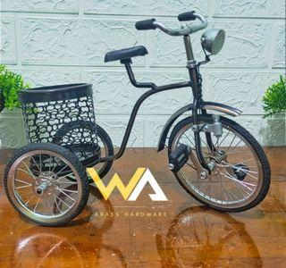 Promo Termurah Diecast Miniatur Sepeda Keranjang Belakang