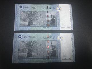 Rm50 shamsiah special fancy almost solid 7777701 702 UNC 2pcs