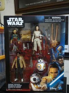 Star Wars 3.75 - Takodana encounter set of 4 - Rey , Finn , BB8 , Maz Kanata Hasbro