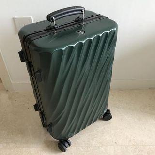 """Stylish Retro Style Luggage Bag, Cabin Luggage, Small 20"""" Luggage Suitcase Briefcase, Aluminium Aluminum Frame Luggage with TSA Clip Locks, Lightweight Luggage, Travel Luggage, Carry On Luggage, Green Yellow Luggage Bag"""
