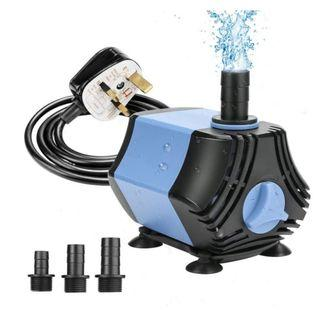 Submersible Water Pump EMORE - 400GPH, 1500L/H HMax Lift 7ft ,30W with 4.9 ft Power Cord, 3 Nozzles