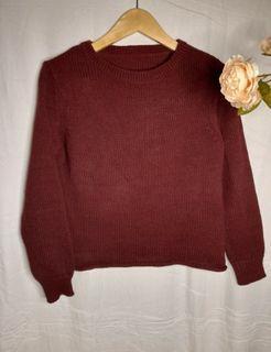 TEBAL SWEATER SUPER PREMIUM MAROON #sweater #sweaterrajut #premium #sweaterpremium #tebal #sweatertebal #uniqlo #gaudi #h&m #stradivarius