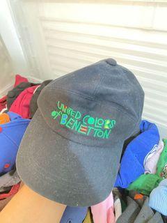 Vintage United Colors of Benetton Dad Cap Black Mens