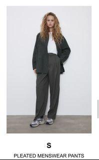 Zara pleated wide leg trousers