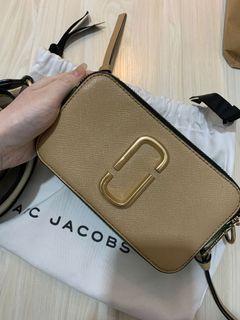 100% ORI Marc Jacobs Snapshot tricolor beige white green tas selempang beige