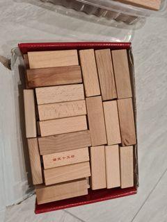 2 sets of jenga stacking blocks