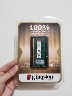 【全新】Kingston 品牌專用筆記型記憶體 4GB