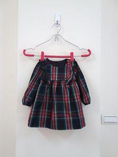 正品GAP 嬰幼兒格紋連衣裙