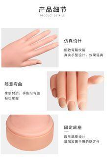 施華尼假手模具美甲模型模具練習假指甲手膜模特練習初學者手模摸展示道具可練習美甲放置戒指收納