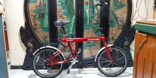 鋁合金20吋shimano 6段變伸縮折疊腳踏車桃園自取