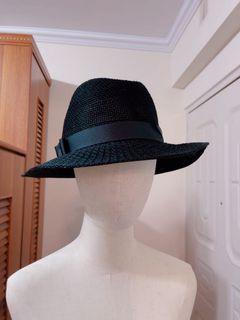 全新黑色編織帽