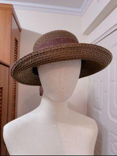 全新咖啡色編織帽