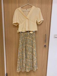 套裝 夏天 長裙一套自己配的 上衣200 裙子180 合買320