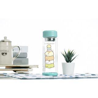全新附盒 超可愛___角落小夥伴 疊在一起 雙層玻璃杯