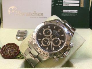 二手 Rolex Daytona 116520BLK 停產- 28watches