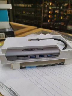7-in-1 USB-C Hub (USB-C to PD/USB 3.0x3/SD/TF/HDMI Port) - Grey