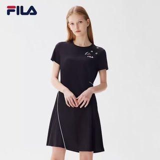 全新Fila dress女裝圓領連身裙 one piece 連身裙短袖短裙裙子瘦腰連身裙寬鬆顯瘦裙