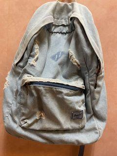 Herschel 刷破 牛仔 丹寧 15吋 電腦包 後背包