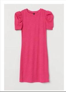 H&M puff sleeves dress XS-S