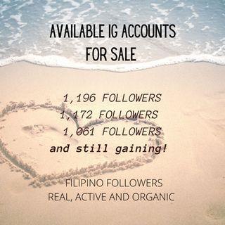 Instagram IG Accounts For Sale