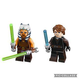 Lego Star Wars Anakin Skywalker and Ahoska Tano