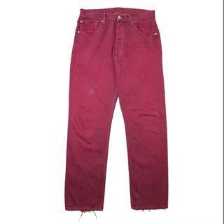 Levis 501 dark purple jeans