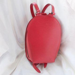 LV Louis Vuitton Rouge Tassil Epi Mabillon  Red Backpack