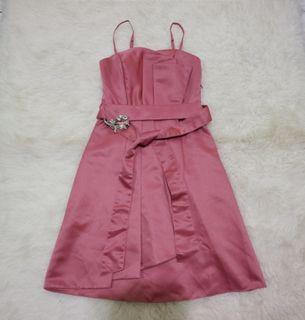 Mini dress pink | party dress import