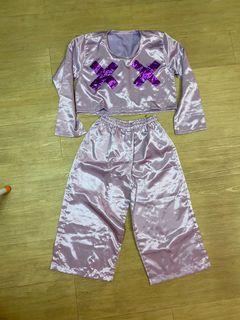 One set mettalic purple x