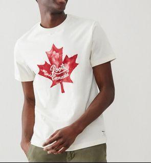 Roots 男大人加拿大楓葉T (紅白、藍白)