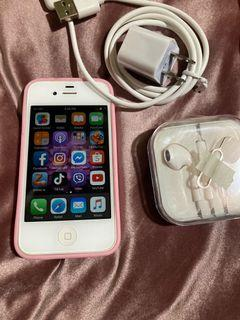 Selling iphone 4's good as back up phone.  With charger and earphone included