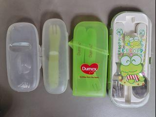 Toddler utensils spoon and fork
