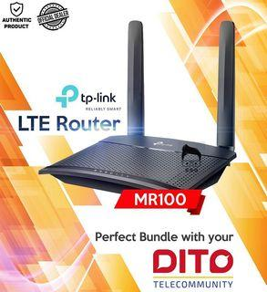 Tp Link TL-MR100 4g LTE Sim Card Wi-Fi Router 300mbps with Local Warranty