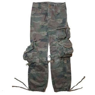 Unbrand gasmask pocket cargo pants