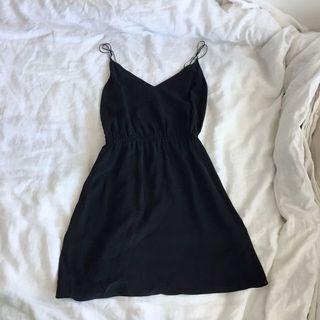 Wilfred Silk black dress in M
