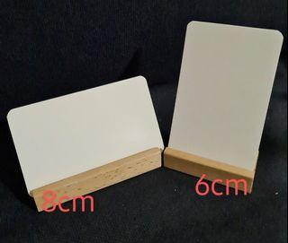 Wooden card holder Singapore, Wooden Menu Holder Singapore-8cm and 6cm Length.