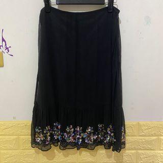 Yih Shin黑色亮片長裙