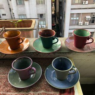 陶瓷杯,5色,沒用過但有存放痕跡