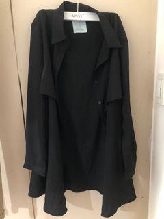 黑色雪紡外套