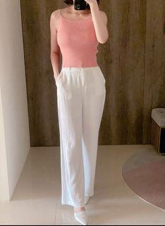 橘粉紅針織上衣