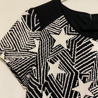 拼接時尚設計洋裝