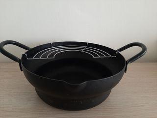 日本製天婦羅油炸鐵鍋 Iron Fryer, 24cm.