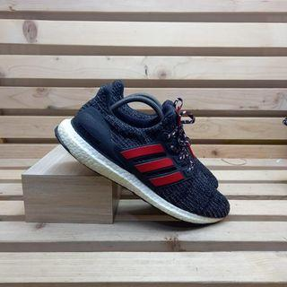 Adidas Ultraboost 4.0 Black Red White  Running Shoes Men's