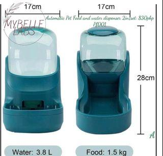 Automatic Pet Food and Water Dispenser