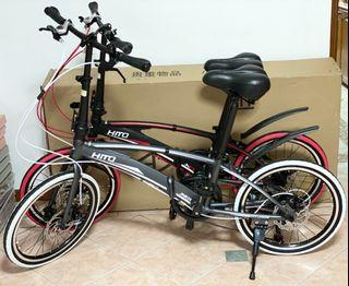 BN HITO X6 20INCH 7 Speed Shimano Shifter & Derailleur GREY/RED Folding Bike Foldable Bicycle Foldable Bicycle (LIMITED UNIT ONLY)(TAG: JAVA LANKELEISI FNHON SAVA DAHON)