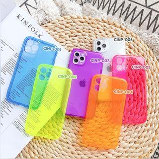 Case iPhone - Neon Shock Proof Case - Full Cover + Camera Protection Lens Cover