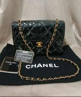 Chanel Classic Small Patent Leather #4 db card holo booklet